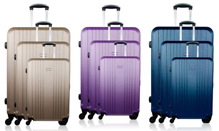 Groupon Goods Global GmbH: Set de 3 maletas modelo Europe por 109,90 € (82% de descuento)