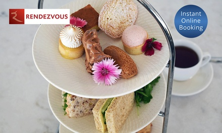 High Tea by the Sea with Bottle of Sparkling for Two $69 or Four People $135 at Rendezvous Hotel Scarborough