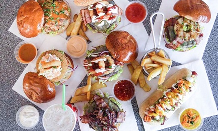 Large Shake for Two or Four, or Burger with Fries and Shake for Up to Four at Wiseguys Gourmet Burgers (Up to 47% Off)
