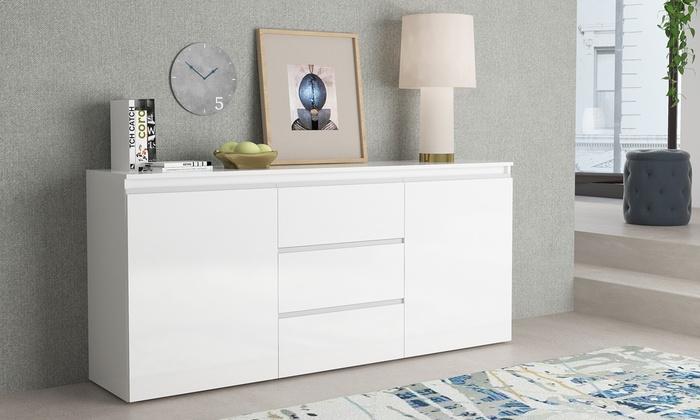 buffet 2 portes 3 tiroirs groupon shopping. Black Bedroom Furniture Sets. Home Design Ideas