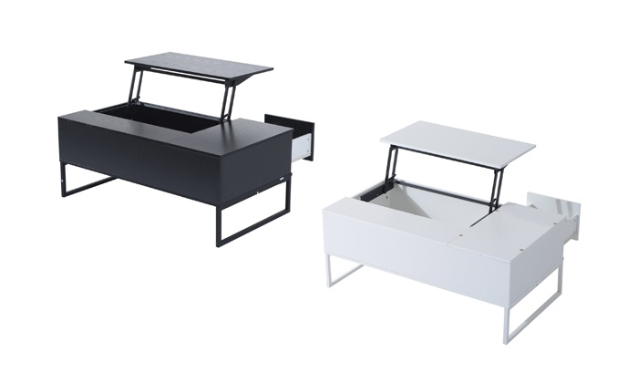 Groupon Goods: Tea Table with Built-In Tray (Shipping Included)