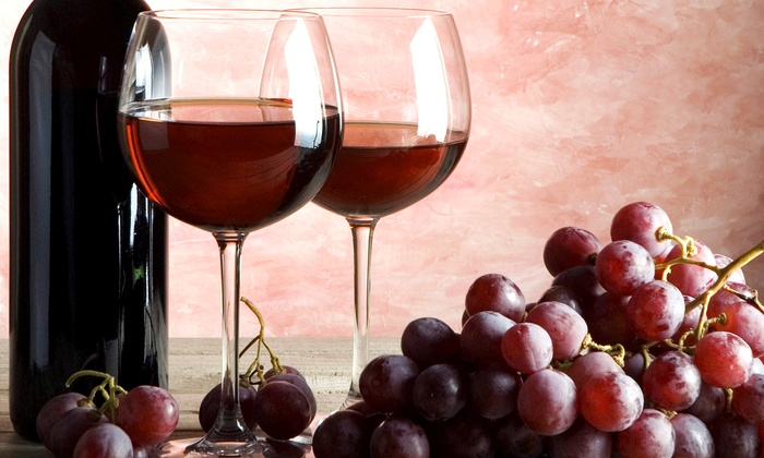D'Vine Wine - Multiple Locations: $32 for a Wine Tasting with Souvenir Glasses and Custom Bottle Labels for Two at D'Vine Wine (Up to $64 Value)