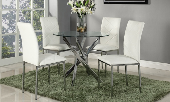 Mesa de comedor con cuatro sillas | Groupon Goods