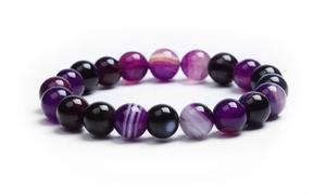 Bracelet en agates Violette