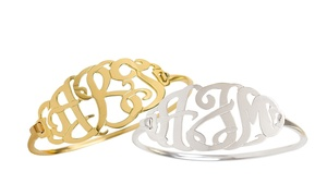 91% Off a Monogram Bangle with Clasp at MonogramHub, plus 6.0% Cash Back from Ebates.