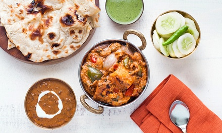 Two-Course Indian Dinner for Two or Four at Aangan Blissfully Indian (Up to 59% Off)
