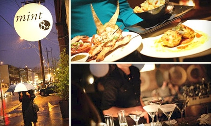 Mint and 820 - Eliot: $12 for $25 Worth of Pan-American Fare and Drinks at Mint and 820