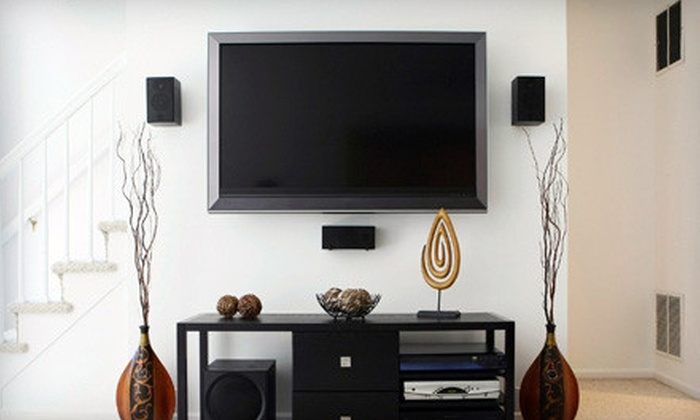 TV Installation Houston - West University Place: TV Wall Mount and Installation from TV Installation Houston (Up to 51% Off). Two Options Available.