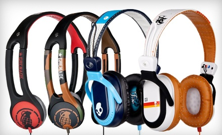 1 Pair of Icon 2 Grenade Headphones in Army/Camo or Red/Black Colors Including Shipping (up to a $33.99 total value)  - Skullcandy in