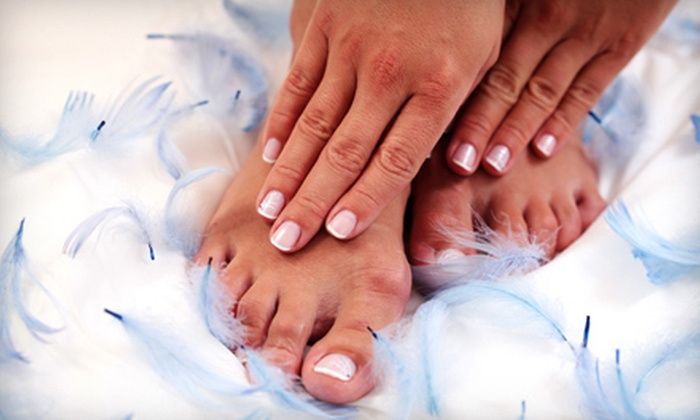 Blades of Columbia Salon & Day Spa - Cayce: One Basic Mani-Pedi or Three or Five Basic Manicures at Blades of Columbia Salon & Day Spa in Cayce (Up to 61% Off)