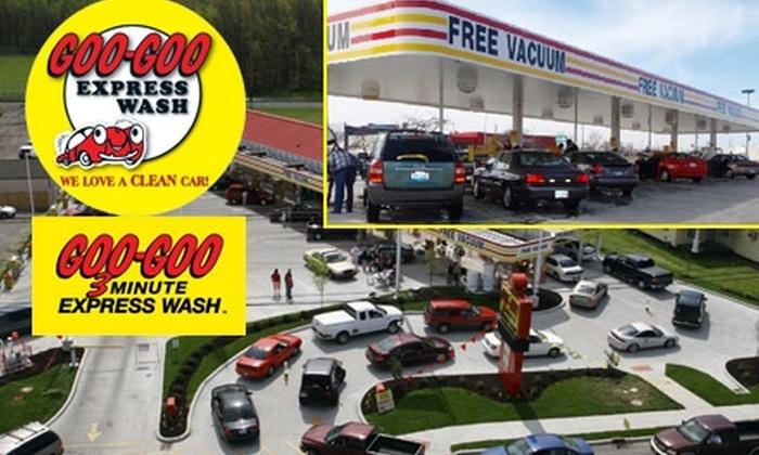 Goo-Goo Express Wash Louisville - Pleasure Ridge Park: $4 for a Wash, Polish, Protectant, and Tire Shine at Goo-Goo Express Wash ($9 Value)