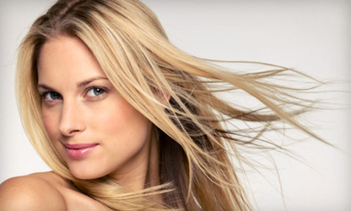 Beverly Hills Color Bar - Beverly Hills: Full Highlights or Keratin Hair-Smoothing Treatment at Beverly Hills Color Bar (Up to 57% Off)