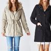 Women's Long Parka Jacket with Faux-Fur Hood