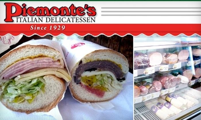 Piemonte's Italian Delicatessen - Tower District: $5 for $10 Worth of Sandwiches and More at Piemonte's Italian Delicatessen