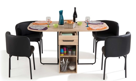 tables gain de place groupon shopping. Black Bedroom Furniture Sets. Home Design Ideas
