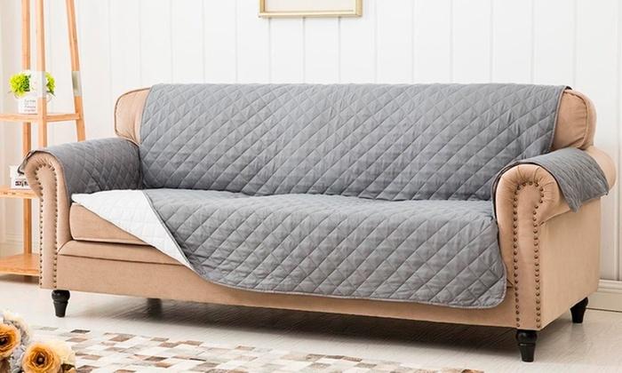 Surprising Reversible Sofa Cover Groupon Goods Lamtechconsult Wood Chair Design Ideas Lamtechconsultcom