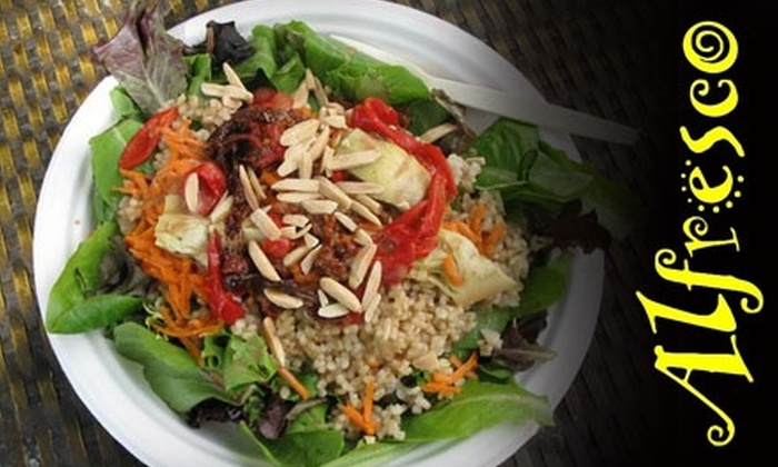 Alfresco - Downtown Santa Cruz: $3 for $6 of Vegetarian Fare at Alfresco