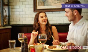 Café Rouge: Steak Frites and Wine for Two, Four or Six at Café Rouge, Nationwide (Up to 60% Off)