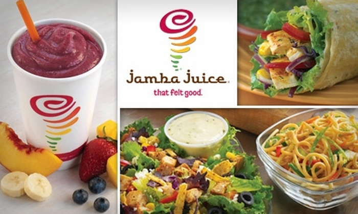 Jamba Juice - Multiple Locations: $5 for $10 Worth of Smoothies, Salads, Sandwiches, and Wraps at Jamba Juice