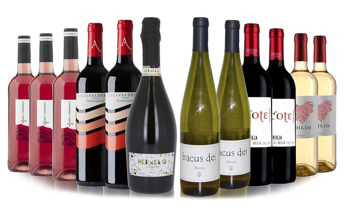 Prosecco and Wine 12 Bottles   Groupon Goods