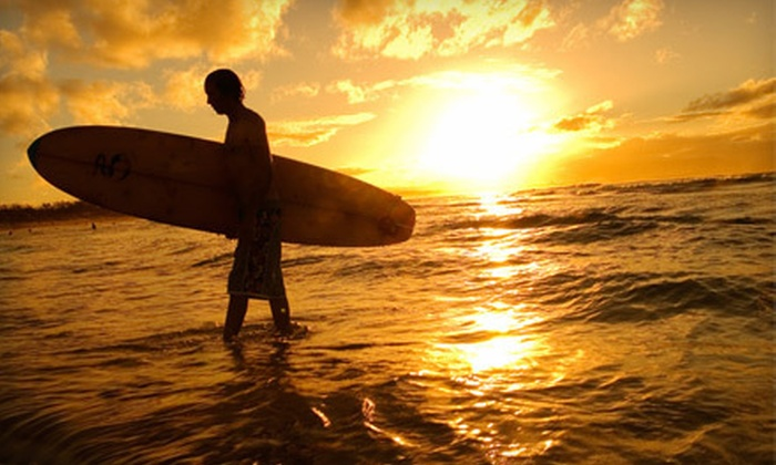 Adventure Out - Multiple Locations: $55 for a Three-Hour Beginner Surfing Clinic from Adventure Out ($99 Value)