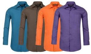 Jack Luxton Men's Wrinkle-Resistant Cotton-Blend Dress Shirt