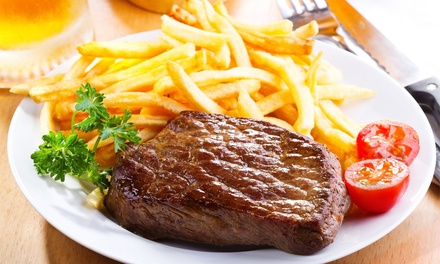 10oz Steak with Chips, Salad and Coleslaw Each for Two or Four at Stocc Lodge