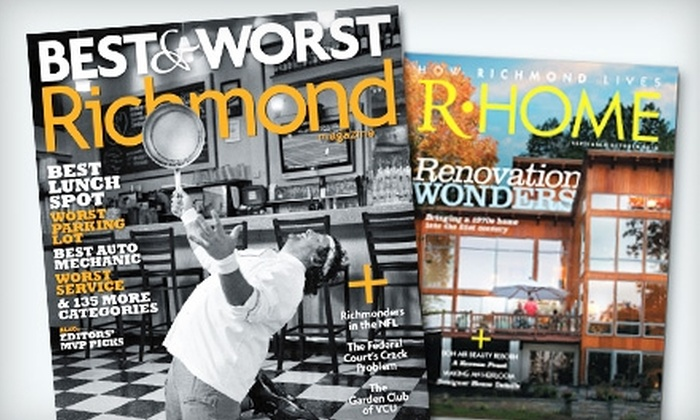 "Richmond and R-Home: $14 for Two-Year Subscription to ""Richmond"" and ""R-Home"" Magazines ($26 Value)"