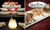 Orleans & Barlow's - Multiple Locations: $15 for $30 Worth of Innovative American Cuisine at Barlow's, or $10 for $20 Worth of Hearty Bistro Fare at Orleans