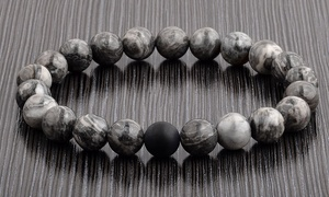 Beaded Natural Stone Stretch Bracelets by Crucible