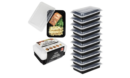 10, 20 or 30 Meal Prep Microwaveable Food Containers