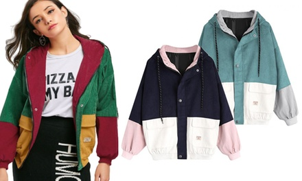 $34 for a Hooded Corduroy Vintage-Style Jacket