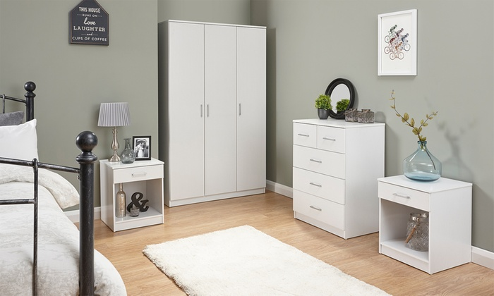 Three- or Four-Piece Copenhagen Bedroom Furniture Set
