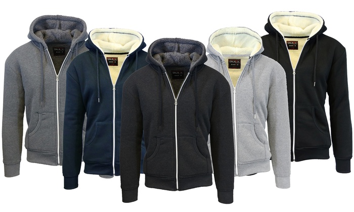 Men's Sherpa-Lined Fleece Hoodies (2-Pack)