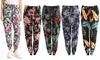 Women's Floral Printed Cotton Harem Pants