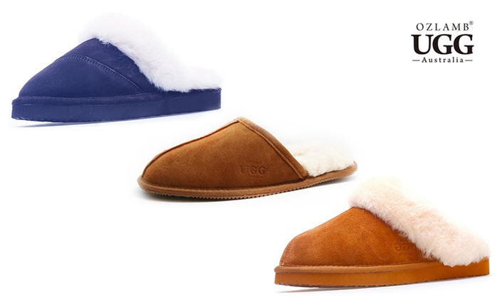 From $34 for a Pair of Ozlamb Unisex UGG Scuff Slippers in Choice of Colour and Size