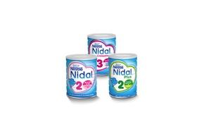 Nestlé Nidal: Coupon Nestlé® Nidal® 2ème âge ou Croissance à imprimer, valables dans toutes les enseignes de distribution en France