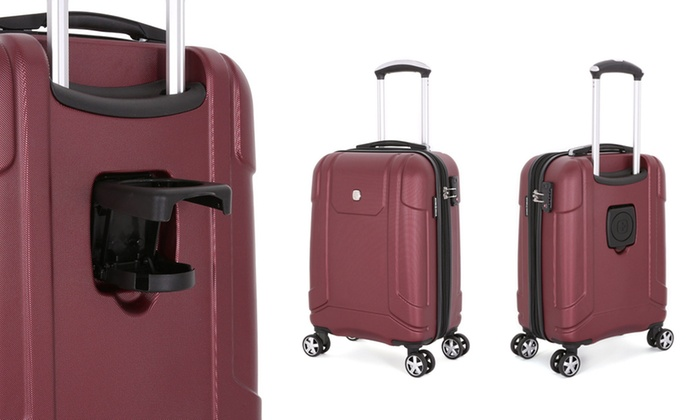 Swissgear Hard Sided Spinner Carry On Luggage With Built