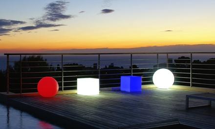 Sphères et cubes lumineux multicolores Lumisky, sur batterie et télécommandées