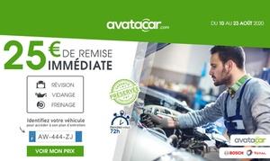 25 € offerts sur le site Avatacar