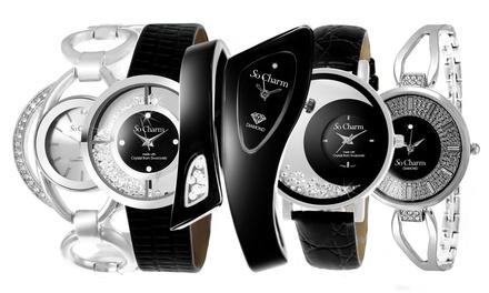Relojes de la marca So Charm adornados con diamante y/o cristales de  Swarovski®