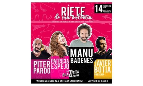 Entrada general al espectáculo de humor ''Ríete de San Valentín'' para 1 persona en el Teatro La Plazeta