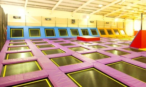 Sky High Trampoline Park: One-Hour Trampoline Access with Sock Hire for One, Two or Four at Sky High Trampoline Park (Up to 32% Off)