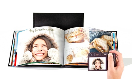 One or Two Personalised Leather A4 100-Page Photobooks from €21 (81% Off)