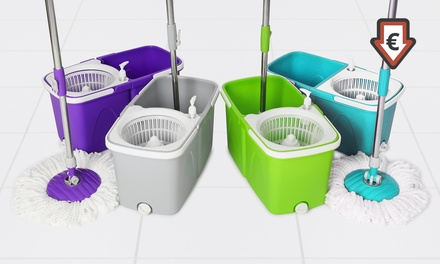 Balai rotatif avec accessoires, coloris au choix