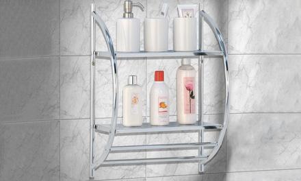 Two-Tier Chrome Bathroom Rack