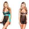 Women's Side Flyaway Babydoll With Thong Set