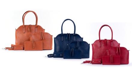 Set 4 borse,portafogli e portachiavi