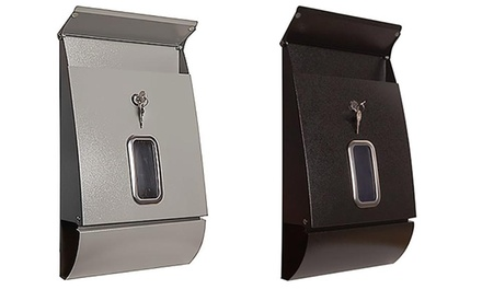 Jet-Line Briefkasten mit Sichtfenster und Zylinderschloss inkl. Zeitungsrolle in Schwarz oder Grau (Koln)