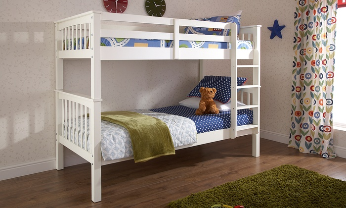 Wooden Bunk Beds or Trio Beds in Choice of Colour from £230